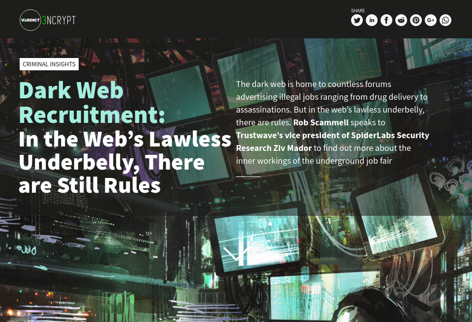 Dark Web Recruitment: In the Web's Lawless Underbelly, There
